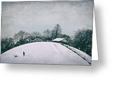 My Wintry Homey Snowy Planet Greeting Card