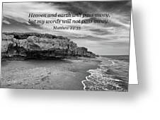 My Words Will Not Pass Away Greeting Card