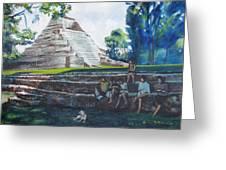 Myan Temple Greeting Card