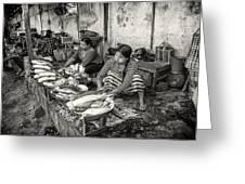 Myanmar Market Greeting Card