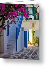Mykonos Staircase Greeting Card