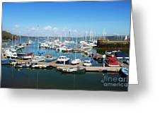 Mylor Marina Cornwall Greeting Card
