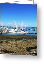 Mylor Yacht Pontoon Greeting Card
