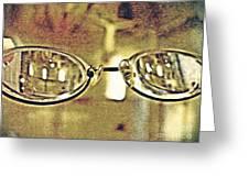 Myopia At The Museum Greeting Card
