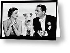Myrna Loy Asta William Powell Publicity Photo The Thin Man 1936 Greeting Card