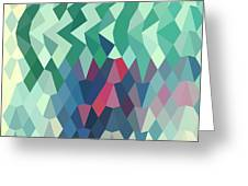 Myrtle Green Abstract Low Polygon Background Greeting Card