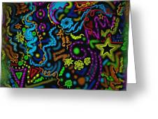 Mysteries Of The Night Greeting Card