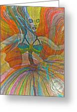 Mysterious Dancer Greeting Card