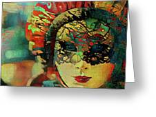 Mysterious Mask Greeting Card