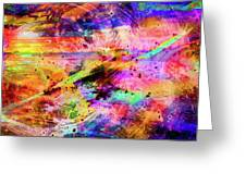 Mysterious Sunset Debris Greeting Card