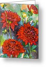 Mystery Day Dahlias Greeting Card