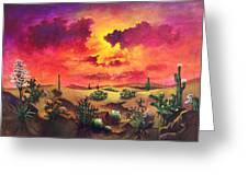 Mystery Of The Desert Greeting Card