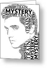 Mystery Train Elvis Wordart Greeting Card