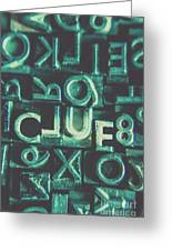 Mystery Writer Clue Greeting Card