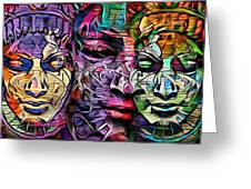 Mystic City Faces - Version B  Greeting Card