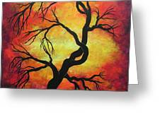 Mystic Firestorm Greeting Card by Jordanka Yaretz