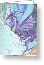 Mystic Ice Palace Dragon Greeting Card by Morgan Fitzsimons