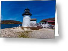 Mystic Seaport Lighthouse Greeting Card