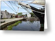Mystic Seaport Village Greeting Card