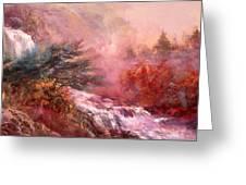 Mystic Waterfall Greeting Card
