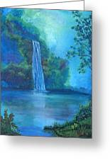 Mystic Waterfall Greeting Card