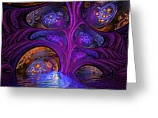 Mystical Caves Of Halyon Greeting Card