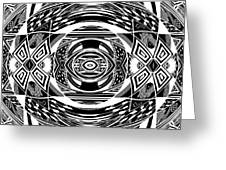 Mystical Eye - Abstract Black And White Graphic Drawing Greeting Card
