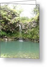 Mystical Waterfall Greeting Card