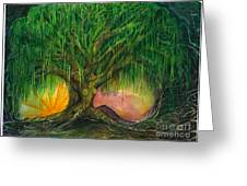 Mystical Willow Greeting Card