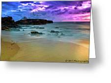 Mythical Ocean Sunset  Greeting Card