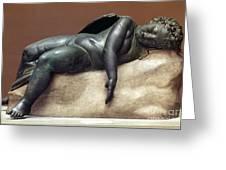 Mythology: Sleeping Eros Greeting Card
