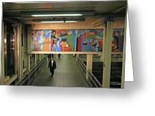 N Y C Subway Scenes # 45 Greeting Card