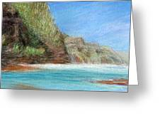 Na Pali Greeting Card