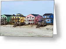Nags Head Beach Houses Greeting Card