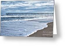 Nags Head Fishing Pier Greeting Card