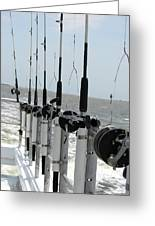 Nags Head Nc Fishing Poles Greeting Card