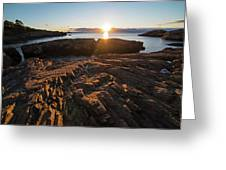 Nahant Ma Castle Rock Carved Rock Greeting Card