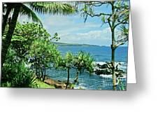 Nahiku Kaelua Hanawi Honolulunui Maui Hawaii Greeting Card