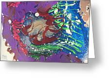 Nail Polish Abstract 15-s11 Greeting Card