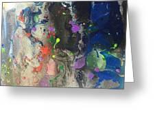 Nail Polish Abstract 15-w11 Greeting Card