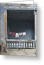 Naked Balcony Greeting Card