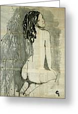 Naked Figure.  Greeting Card