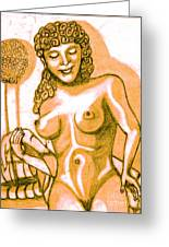 Naked Goddess Greeting Card