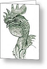 Naked Neck Rooster Greeting Card