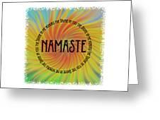 Namaste Divine And Honor Swirl Greeting Card