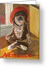 Namaste Dog Greeting Card