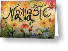 Namaste Greeting Card