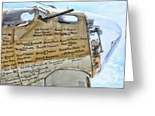 Names On B-17 Greeting Card