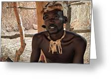 Namibia Tribe 2 - Chief Greeting Card