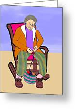 Nana Knitting Greeting Card